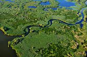 pic of wetland  - aerial view of wetland - JPG