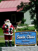 Santa Claus Welcome Sign