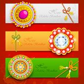pic of rakshabandhan  - illustration of decorative rakhi for Raksha Bandhan - JPG
