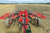 Tilling A Field As Seen From Tractor