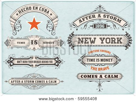 Labels set. Vector poster