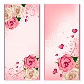 Floral vertical banners with roses