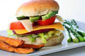 Veg Burger With Sweet Potator Fries poster