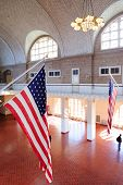 NEW YORK CITY, NY, USA - APR 30: Ellis Island was the gateway for millions of immigrants to the Unit