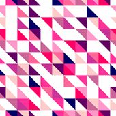 Seamless vector pink, violet and white pattern, texture or background. Colorful geometric mosaic.