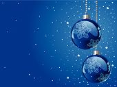 image of christmas ornament  - Abstract blue Christmas Background with Christmas decorations - JPG