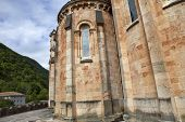 The old cathedral of Covadonga in Asturias, Spain