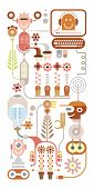 Flowers Lab Vector Illustration