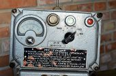 KIEV, UKRAINE -NOV 3: Vintage Soviet Geiger counter during historical military reenactment, festival