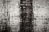 Brick White Dirty Wall Background