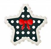 Star Shaped Polka Dot Patch