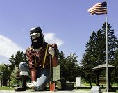 Statue Of Paul Bunyan The Giant Lumberjack