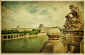 The Louvre Museum, Paris. Vintage photo