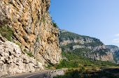 rockface near Podgorica on the road to Kolasin and Zabliak in Montenegro