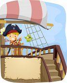 Banner Illustration with a Pirate Theme