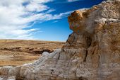 foto of hoodoo  - Hoodoo in Paint Mines Interpretive Park near Calhan Colorado overlooking neighboring short - JPG