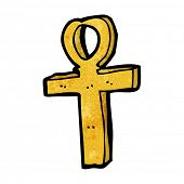 stock photo of ankh  - cartoon ankh symbol - JPG