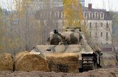 Kiev, Ukraine - November 1: German historical military transport is displayed on the Field of Battle