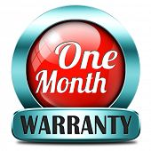 1 month warranty top quality product one month assurance and replacement best top quality guarantee guaranteed commitment red stamp button or icon
