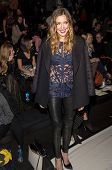 NEW YORK-FEB 9: Actress Katie Cassidy attends the Lela Rose fashion show during Mercedes-Benz Fashio