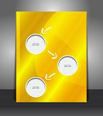 Vector design yellow flyer with place for image