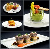 Collage Of Healthy Starters And Main Courses