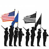 picture of united states marine corps  - Color guard of the United States with the National Flag - JPG