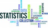picture of statistician  - A word cloud of statistics related items - JPG