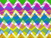 80s chevron pattern