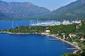 Yacht marina in the bay of Marmaris, Turkey