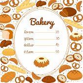 Bakery menu or price poster