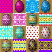 Set of easter egg seamless texture patterns
