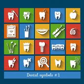 Set of dentistry symbols. part 1