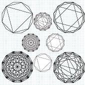 Geometric pattern drawings