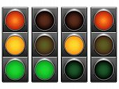 stock photo of traffic light  - Traffic lights signals - JPG
