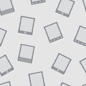E-book Reader Minimal Vector Seamless Pattern