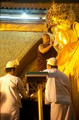 The Ritual Of Daily Face Washing Mahamyatmuni Buddha.