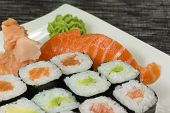 Closeup Of Maki And Nigiri Sushi