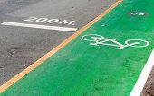 Bicycle And Running Lane.