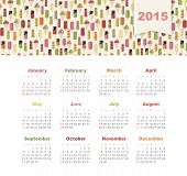 Calendar 2015 year with colored ice cream