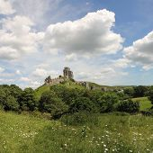Abandoned Historic Corfe Castle, Dorset