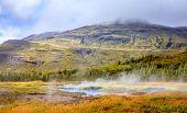 Geothermal area near Geysir in southwestern Iceland