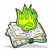 cartoon magic spell book