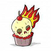 cartoon halloween cup cake