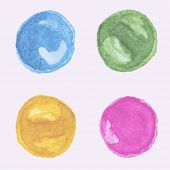 Watercolor rounds