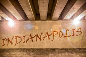 The Word Indianapolis Painted As Graffiti