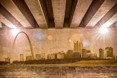 St. Louis Skyline As Wall Drawing