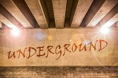 The Word Underground Painted As Graffiti
