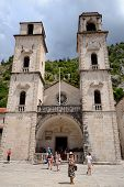 Kotor, Montenegro - July 14: Cathedral Of Saint Tryphon On July 14, 2014 In Kotor, Montenegro