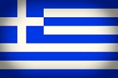 Retro Look Greece Flag